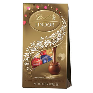 long-distance gifts for boyfriend | lindor valentine's day assortment truffle