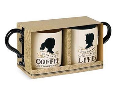 long-distance gifts for boyfriend | matching couple coffee mugs