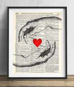 long-distance gifts for boyfriend | hands of love poster