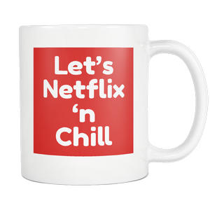 long-distance gifts for boyfriend | let's netflix 'n chill naughty coffee mug