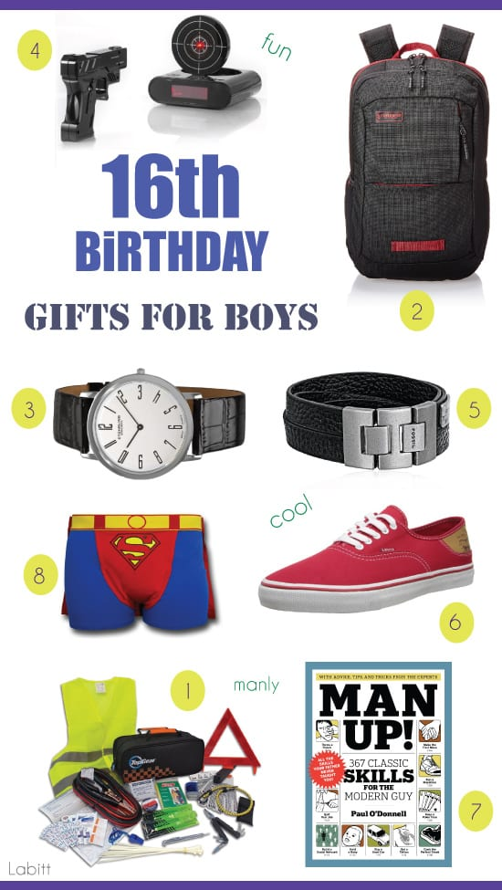 Best 16th Birthday Gifts for Teen Boys - Metropolitan Girls
