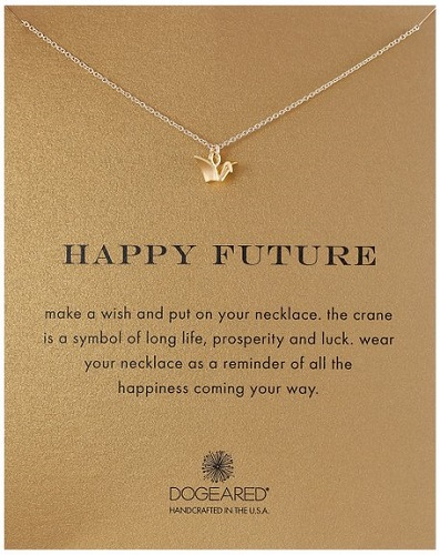college graduation gift ideas for her - Dogeared Happy Future Pendant Necklace