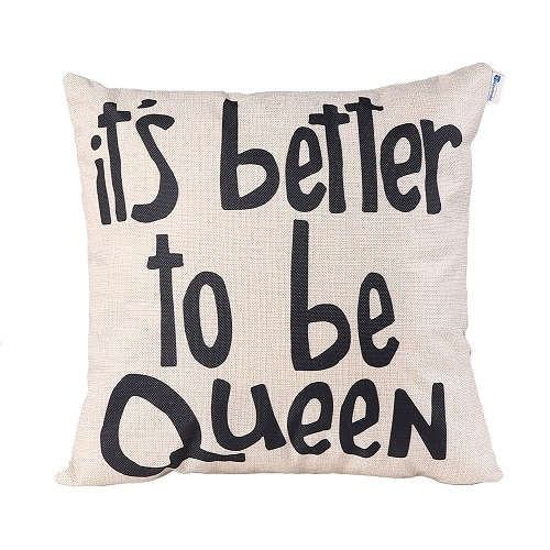 It's Better To Be Queen Pillow. Dorm decor.