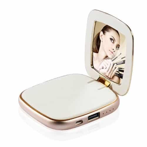 compact mirror power bank