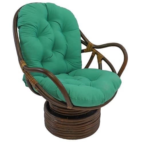 Twill Swivel Rocker Chair