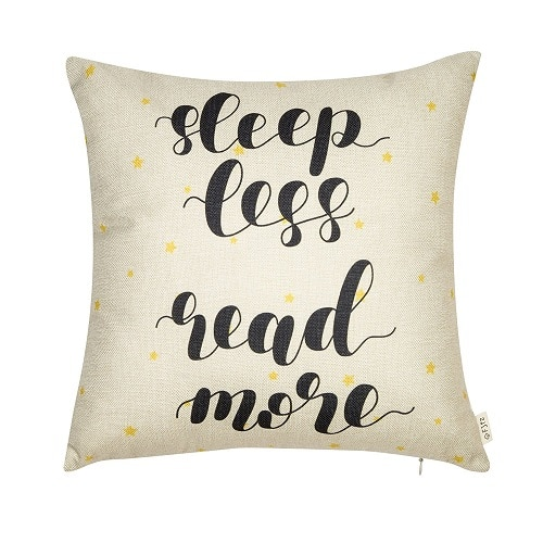 Sleep Less Read More Pillow. Dorm room decor.
