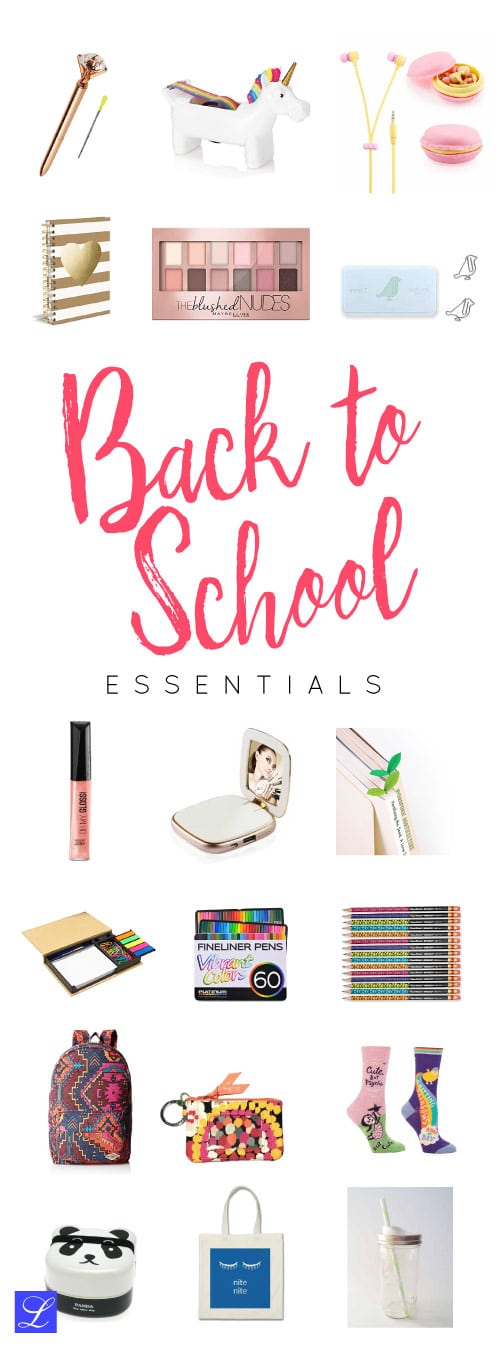 18 Back to School Supplies - stationery, makeup, and more!