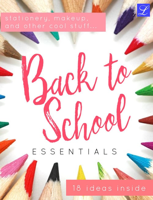 18 Back to school supplies