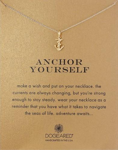 Dogeared Anchor Yourself Pendant Nautical Sea Necklace