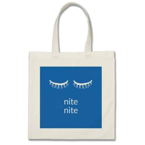 eyelash graphic nite nite tote
