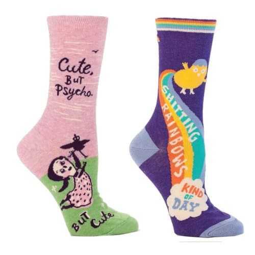 cute socks with funny wordings