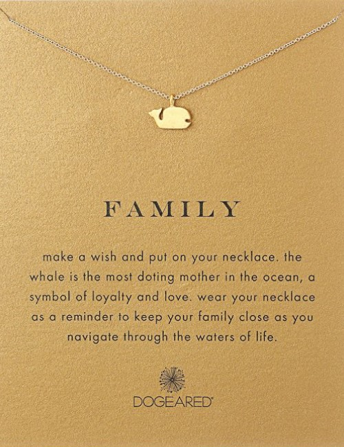 whale - family pendant necklace