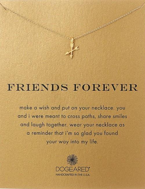 forever friends friendship pendant necklace