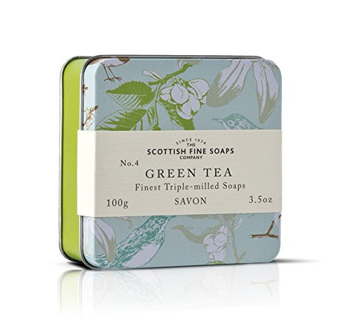 The Scottish Fine Soaps Company Green Tea Soap In A Tin