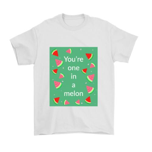 one in a million (melon pun) cute humorous t-shirt