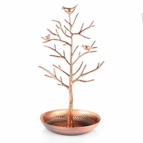 Silver Birds Jewelry Tree