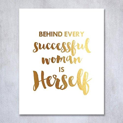 Inspirational Gold Foil Art Poster