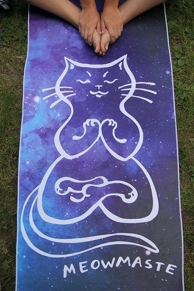 Meowmaste Yoga Towel