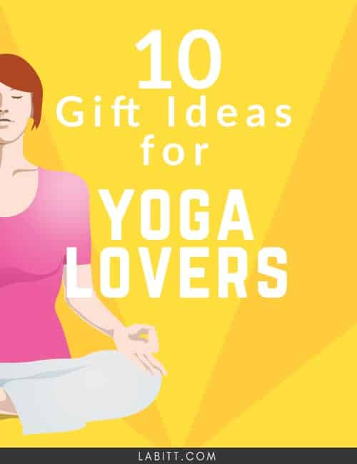> A list of 10 gift ideas for yoga lovers. Yogis will love these ideas: from yoga mat to water tumbler. Find the perfect gift for him and for her.
