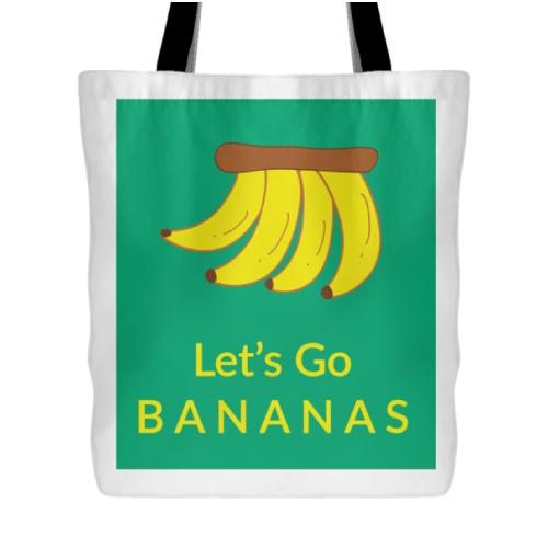 Lets go bananas tote bag