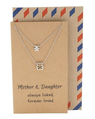 Momma Bear and Baby Bear Mom and Daughter Pendant Necklace