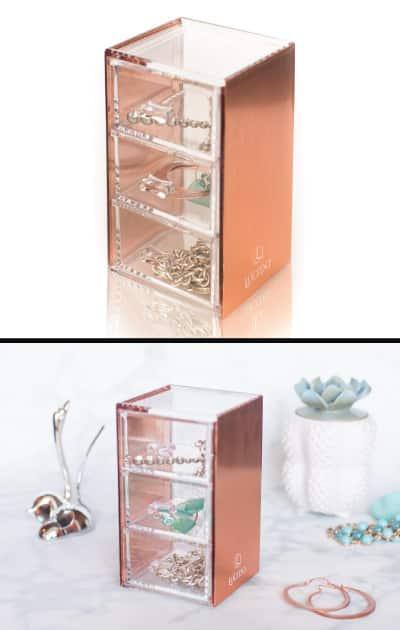 Rose Gold Acrylic Organizer