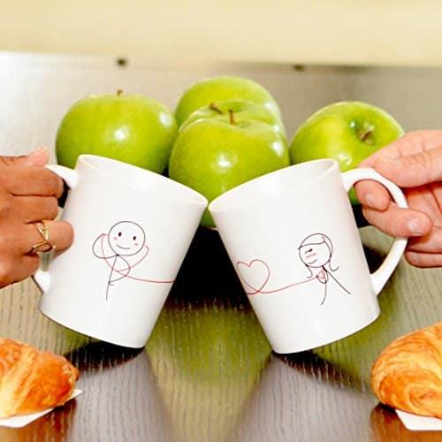 """My Heart Beats for You"" Couple Coffee Mugs"