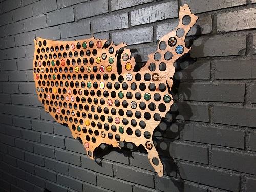 USA Map Bottle Cap Holder