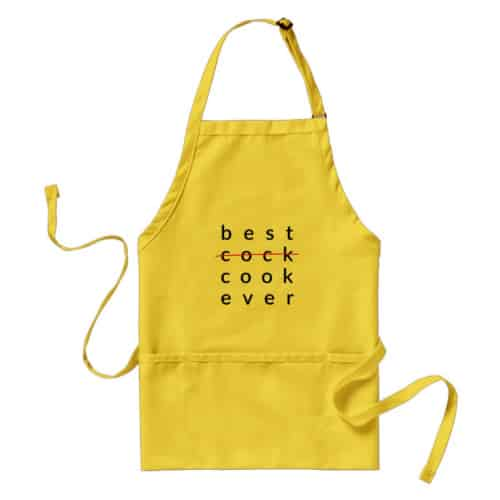 Best Cock Ever Apron. 15 Year Wedding Anniversary Gift Ideas for Him, for Husband. Men Gifts for Guys.