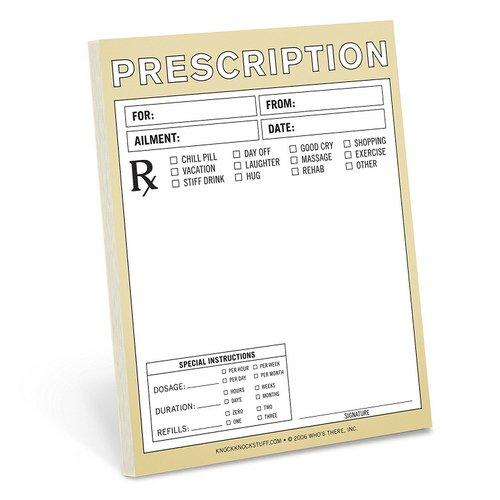 Knock Knock Funny Prescription Note