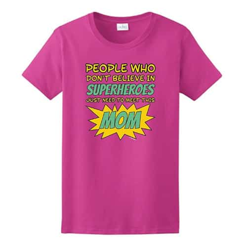 funny superhero mom t-shirt