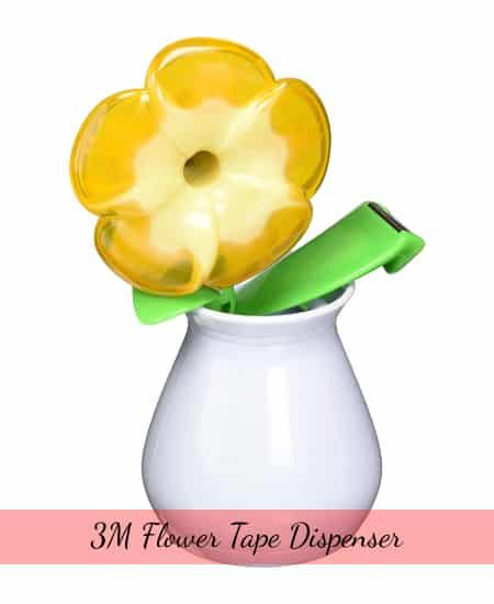 3M Flower Tape Dispenser   cute stationery appreciation gift for teachers