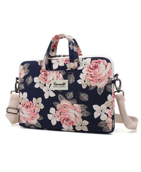 Canvaslife White Rose Shoulder Bag