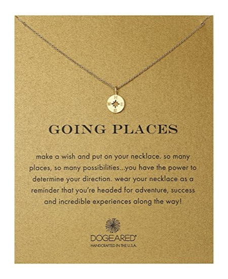 Dogeared Going Places Compass Chain Necklace