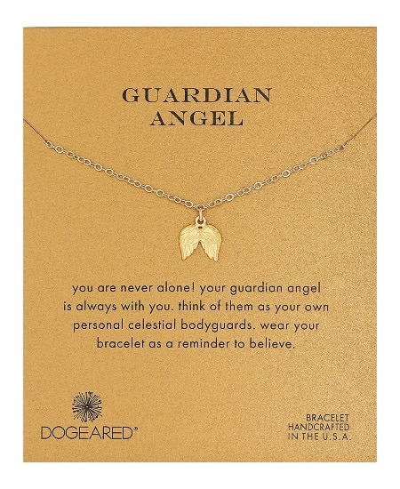 Dogeared Guardian Angel Pendant Necklace   national nurse week gift ideas, nurse graduation, nurse appreciation gift