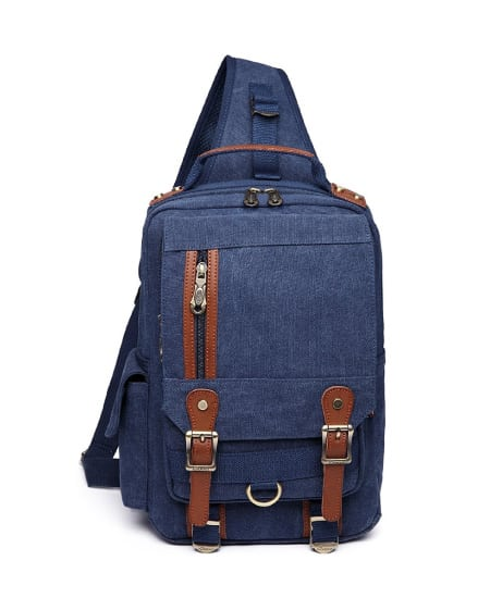 high school graduation gift idea for guys - Kaukko Canvas-Leather Messenger Bag