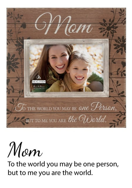 Sun Washed Words Mom Walnut Distressed Picture Frame