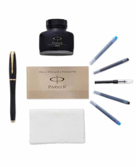 Parker Urban Black and Gold Fountain Pen Kit