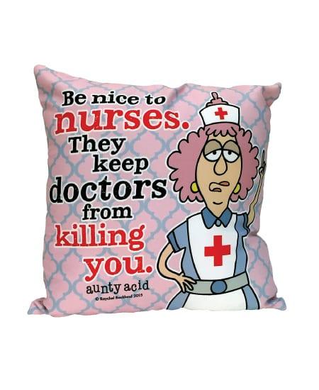 Nurse Pillow - funny special national nurse week appreciation gift ideas for nurses - humor