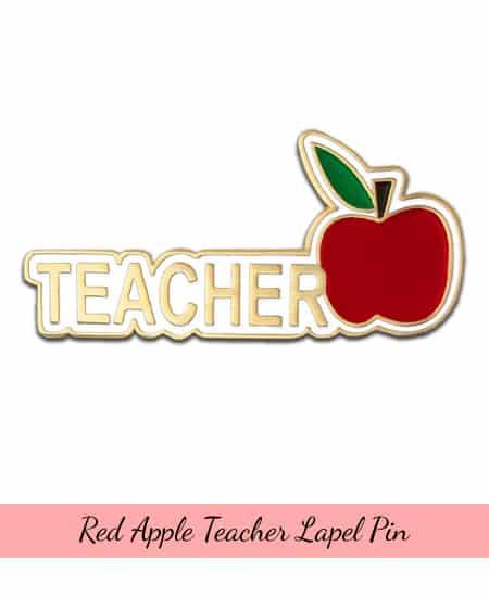 Teacher Red Apple Lapel Pin   teacher appreciation gift ideas