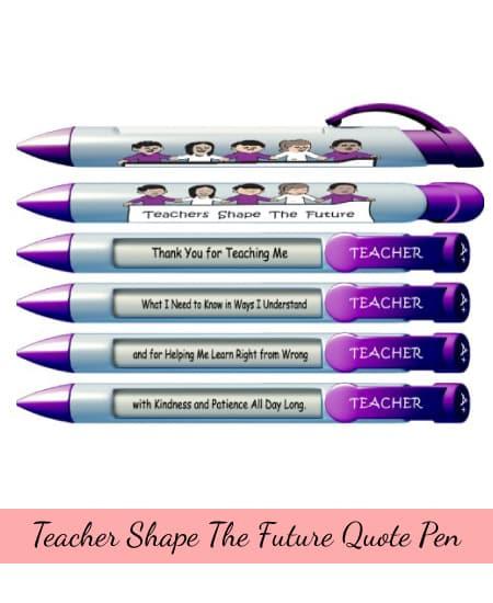Teacher teaching quote pen   appreciation gift ideas