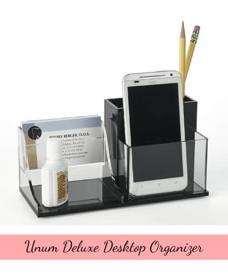 Unum Deluxe Desk Organizer   teacher gift school gift office gift ideas
