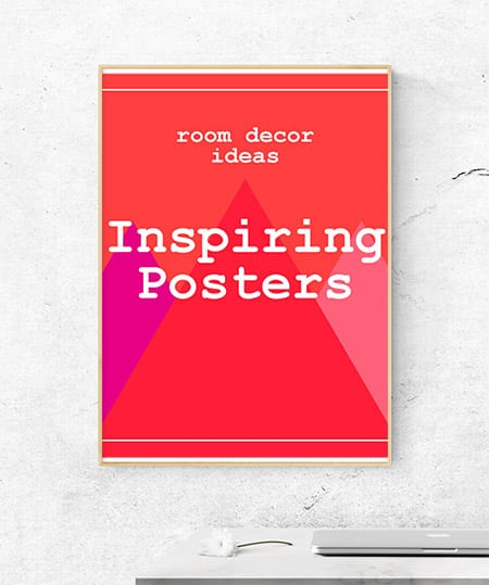 Room decor that inspires. These inspirational posters are the perfect (and affordable) wall art for your new house / room.