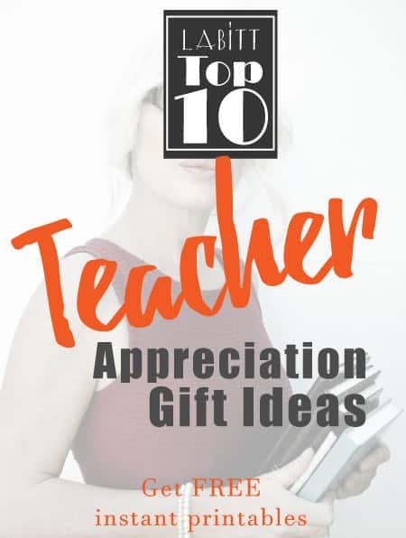 Teacher Appreciation Week Gift Ideas DIY to Make from Students   Gifts for Teacher Appreciation