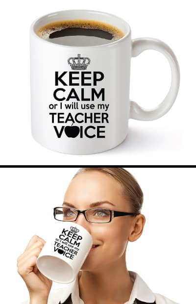 Keep Calm Teacher Mug - teacher gift