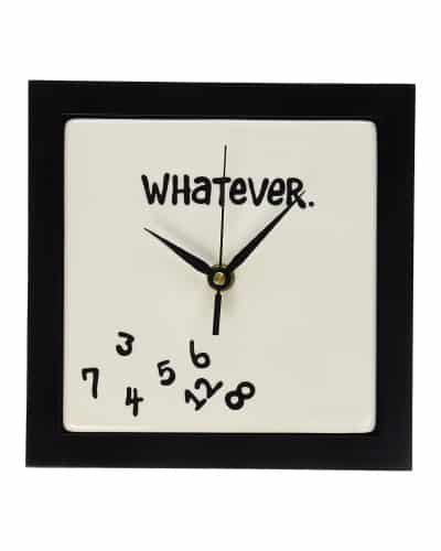 Whatever Wall Clock | Retirement Gift Ideas