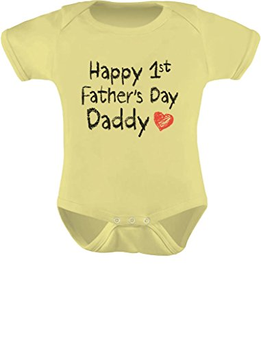 Happy First Father's Day Bodysuit. New Dad Gifts. Humorous.