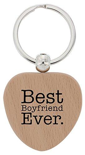 best boyfriend ever wooden keychain