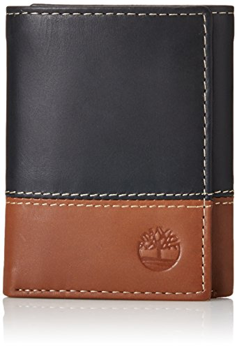 timberland trifold colorblocked men's wallet