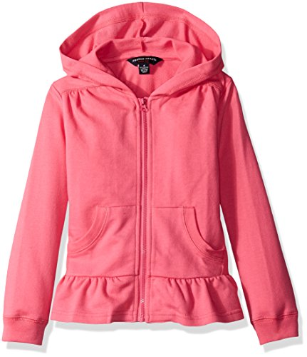 Chic Pink Hoodie with Ruffle